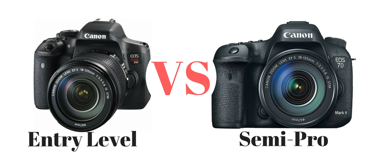 entry level dslr vs semi-pro DSLR